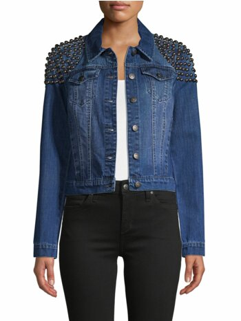 Studded Denim Trucker Jacket