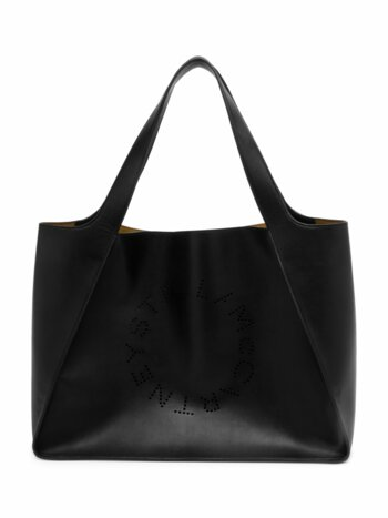 Faux Leather Boxy Tote Bag