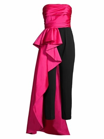 Sky Taffeta Side Sash Jumpsuit