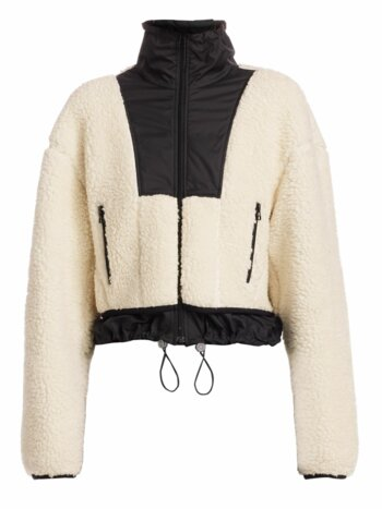 Faux Shearling Drawstring Jacket