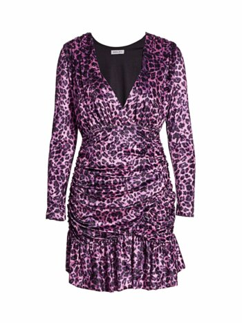 Beverley Leopard Print Velvet Mini Dress