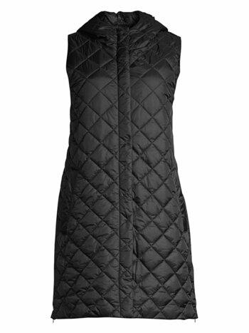 Quilted Recycled Fabric Longline Vest