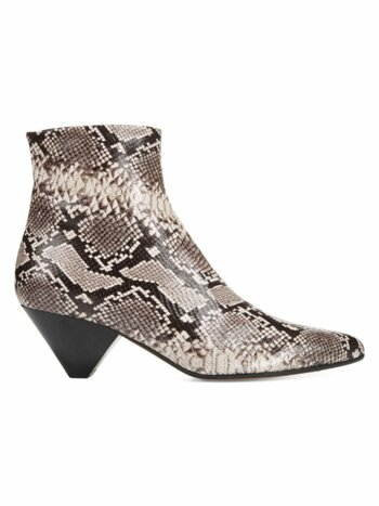 Alder Snakeskin-Embossed Leather Ankle Boots