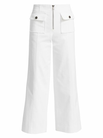 Azure Cropped Wide-Leg Pants