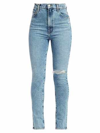 1212 Runway High-Rise Slim-Straight Jeans