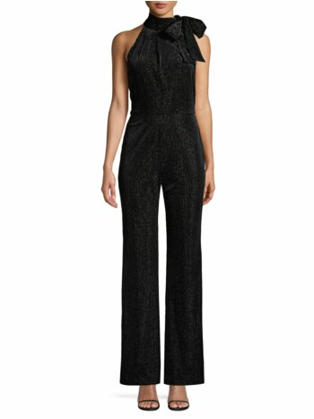 Audrey Striped Velvet Jumpsuit