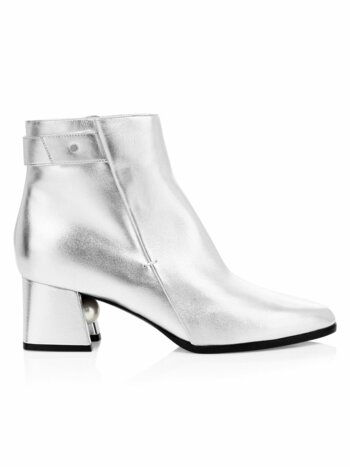 Miri Metallic Leather Ankle Boots