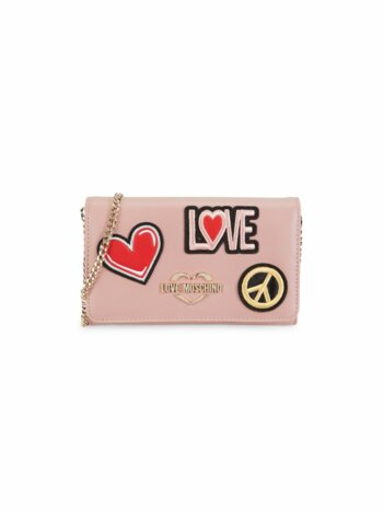 Love & Peace Faux Leather Crossbody Bag