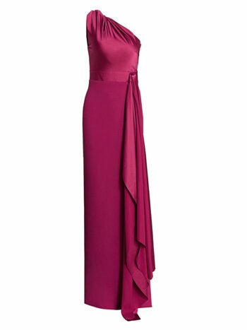 Mara One-Shoulder Gown