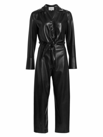 Ana Vegan Leather Tie-Front Jumpsuit