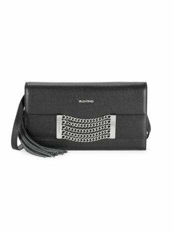 Lena Chain & Tassel Pebbled-Leather Crossbody Bag
