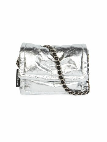 The Pillow Metallic Leather Crossbody Bag