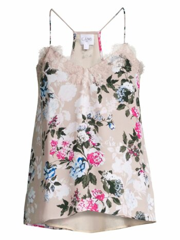 The Racer Floral Silk Georgette Camisole