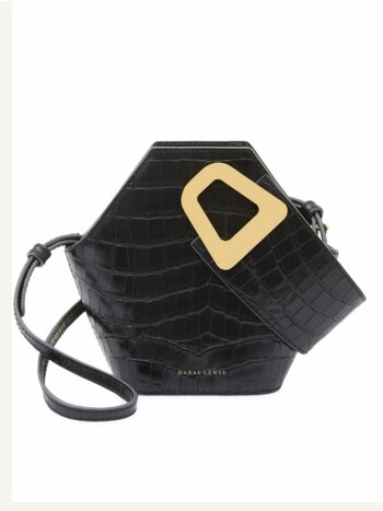 Extra-Small Johnny Geometric Croc-Embossed Leather Bucket Bag
