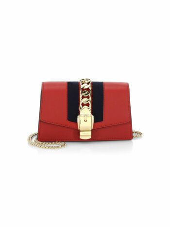 Silvie Mini Leather Clutch