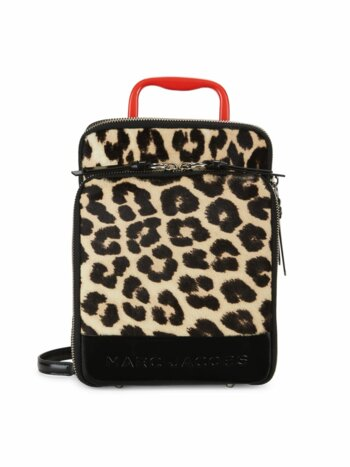 Leopard-Print Calf Hair Retro Backpack