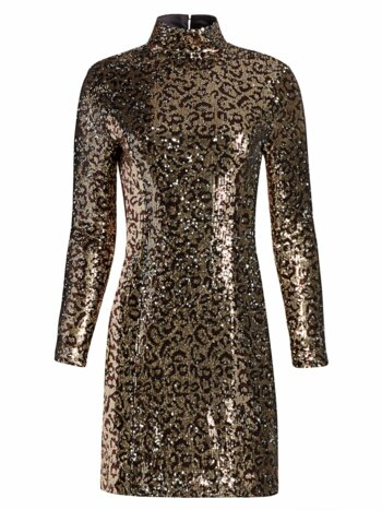 Leopard Sequin Bodycon Mini Dress