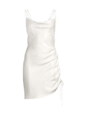 Ivy Ruched Satin Dress