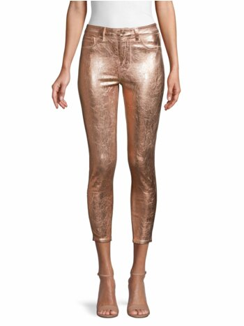 Margot High-Rise Foil Skinny Ankle Jeans