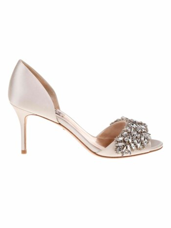 Hansen Embellished Satin d'' Orsay Pumps