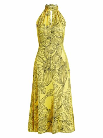 Tropical Floral Halter Dress