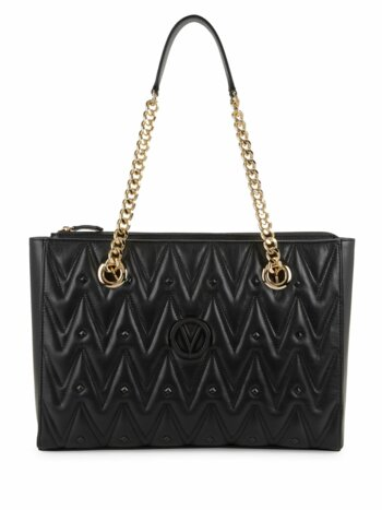 Studded & Quilted Leather Shopper