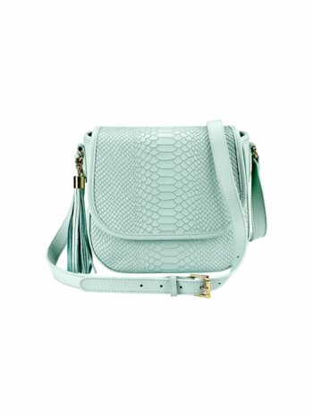 Embossed Leather Crossbody Bag