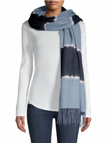 Colorblock Wool Scarf