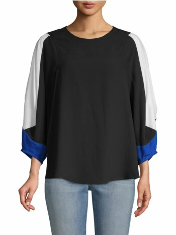 Colorblocked Long-Sleeve Top