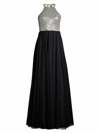 Halter Crystal Bodice Gown