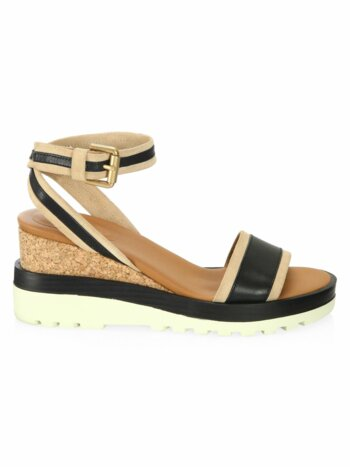 Robin Leather Wedge Sandals