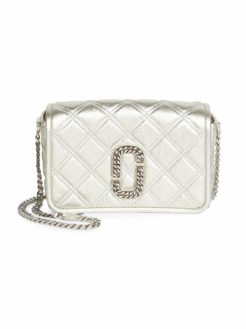 Christy Metallic Leather Crossbody Bag