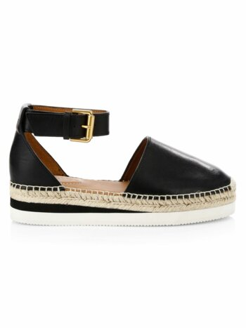 Glyn Flat Leather Espadrilles