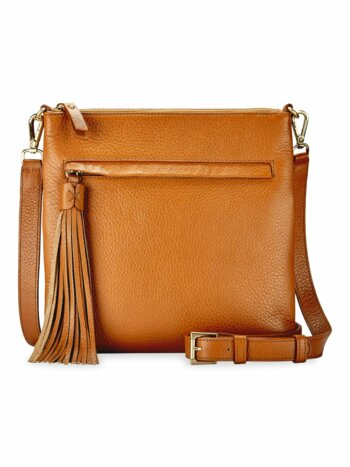 Scott Pebbled-Leather Crossbody Bag