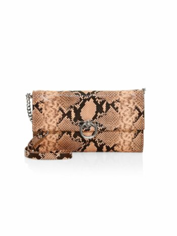 Jean Python-Embossed Leather Convertible Clutch