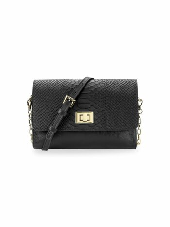 Catherine Snake-Embossed Leather Crossbody