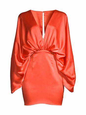 Karina Ruched Satin Dress