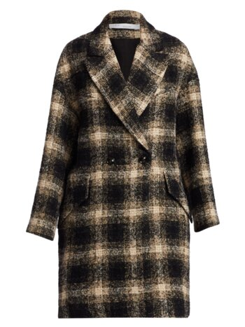 Karsh Plaid Double-Breasted Coat