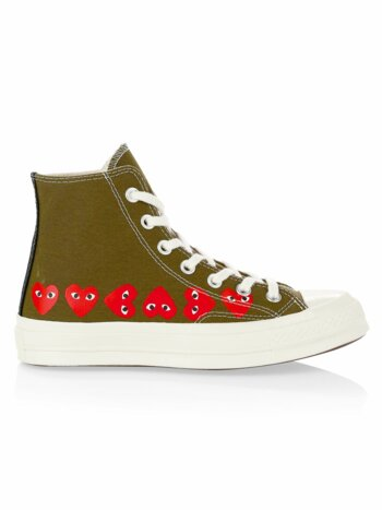 Multi Heart High-Top Sneakers