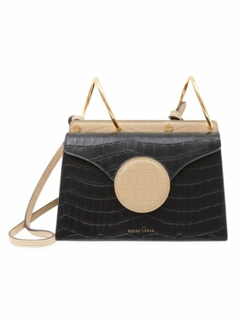 Mini Phoebe Accordion Croc-Embossed Leather Bag
