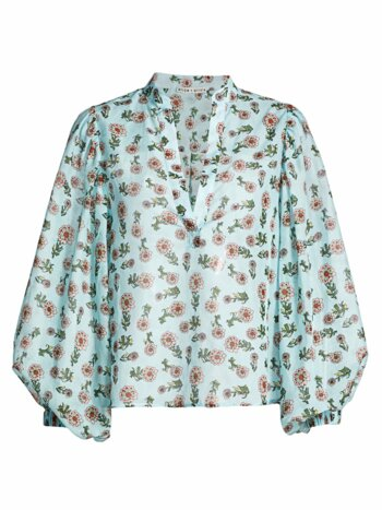 Casey Floral Cotton & Silk Blouse