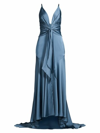 Lake Draped Satin Gown