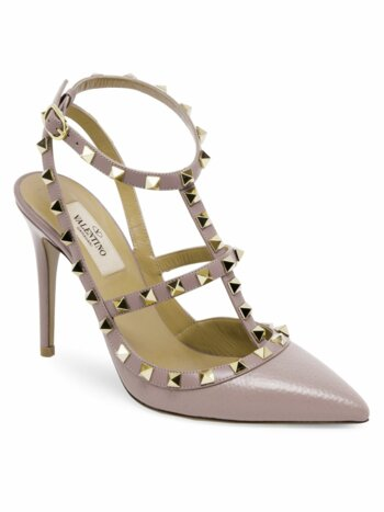 Rockstud Leather Sling Sandals