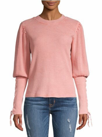 Tasha Puff-Sleeve Thermal Top