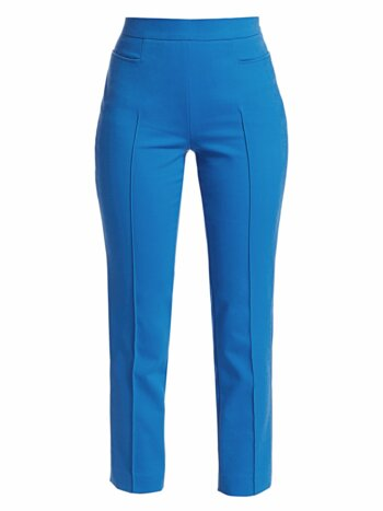 Franca Crop Straight-Leg Pintuck Pants