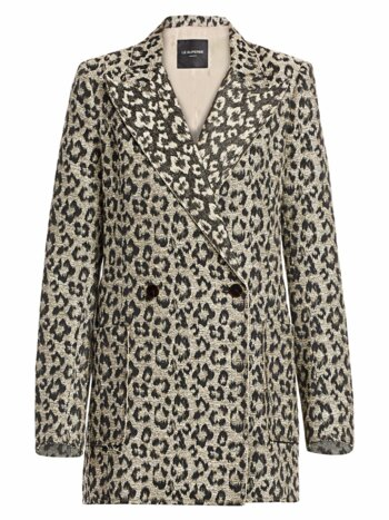 Leopard Print Jacket Dress