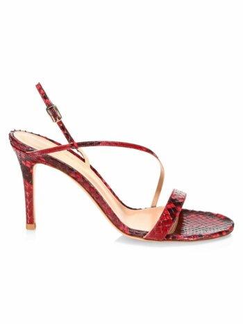Manhattan Python Slingback Sandals