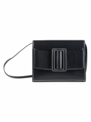 Buckle Leather Clutch