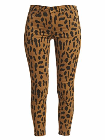 Margot High-Rise Animal-Print Ankle Skinny Jeans
