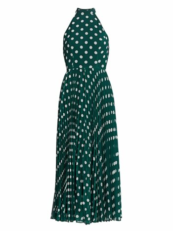 Sunray Polka Dot Picnic A-Line Midi Dress